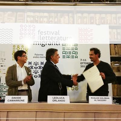 Festival delle Letterature Migranti - Cittadinanza onoraria a Khaled Soliman Al-Nassiry